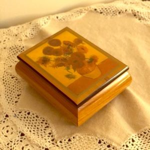Sunflower musicbox jewelry box